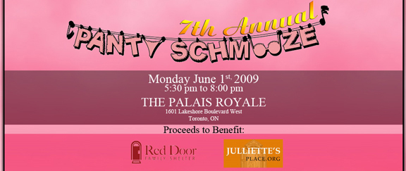 Panty Schmooze Charity for Shelter